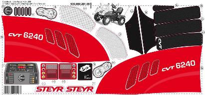 Stickervel RollyToys Steyr CVT 6240 Farmtrac (RT035304)